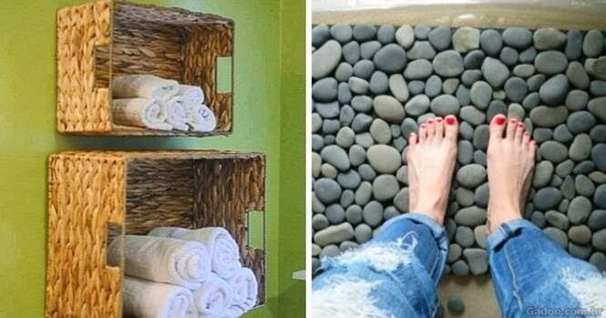 Ideias engenhosas para fazer do banheiro um lugar muito mais agradável