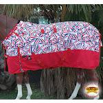 "84"" Hilason 1200D Turnout Winter Horse Blanket Flag Stripes Print"