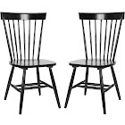 Safavieh Parker Dining Chair Set of 2-black