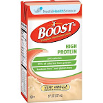Nestle Boost High Protein, Very Vanilla, 8 oz Carton, Case of 27