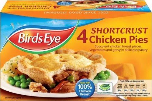 Birds Eye 4 Shortcrust Chicken Or Steak Pies £1.50 ...