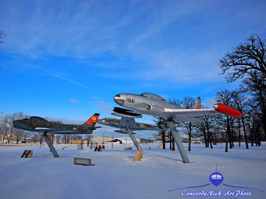 Military Aviation | Aviation Heritage Air Park In Winter