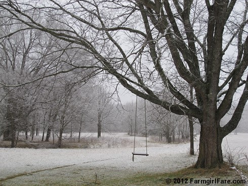 Snowy farm morning 2 - FarmgirlFare.com