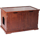 Merry Products Cat Washroom Bench Walnut - MPS012