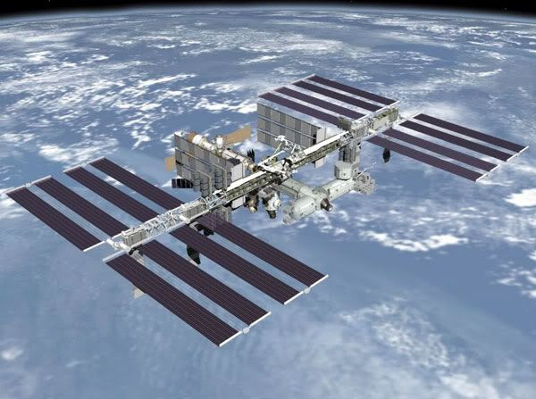 An artist's concept of the International Space Station.