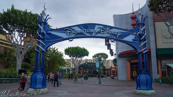 Disneyland Resort, Downtown, Disney, Disneyland60, Sign, Blue, Silver, Marquee