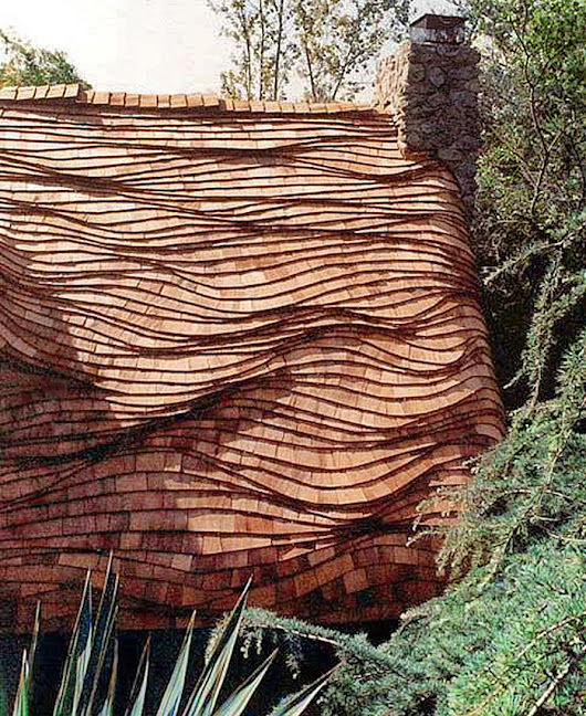 Undulating Roof with Oceanwave Shingle Coursing | Custom Shingles
