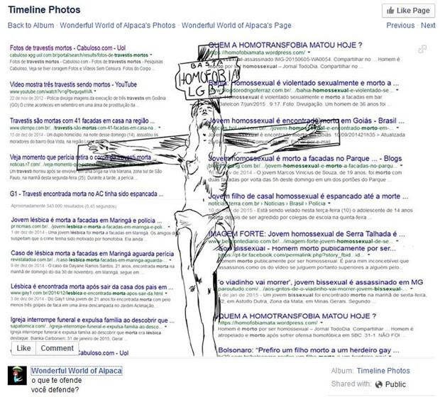 Post do Facebook em defesa ao protesto de Viviany (Foto: Reprodução/Facebook)