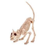 Seasons 9433087 7 x 6 x 20 in. Skeleton Kitty Bonez Halloween Decoration Bone