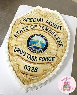 State of Tennessee Police Badge Cake   Sprinkle Me Silly