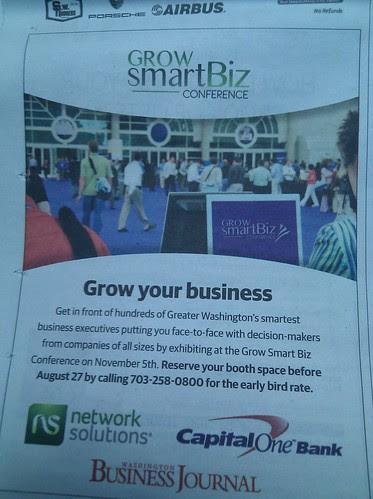 save the date #growsmartbiz conference DC Nov 5 details coming up