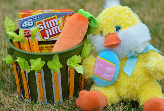 Candy-Free Easter Basket Idea: Slim Jim Carrot Craft
