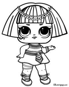 pharaoh series  lol surprise doll coloring page