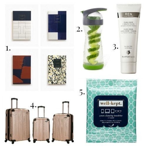 Julia Kostreva Notebooks - Water Bottle - REN Flash Rinse - Rockland Luggage - Well Kept Towelettes