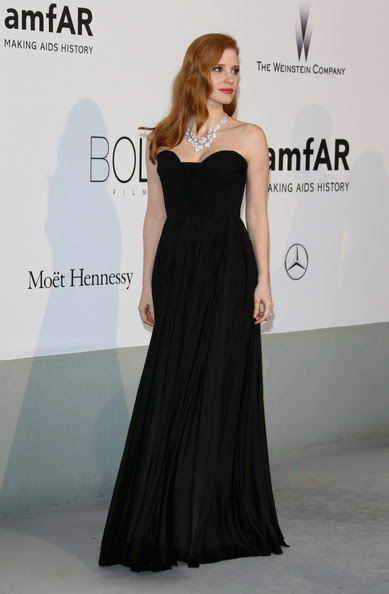 Jessica Chastain - Arrivals at the Cinema Against AIDS Gala