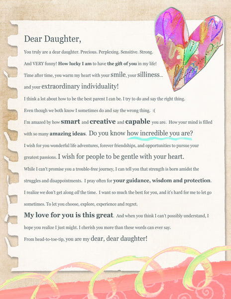 Dear Daughter Letter Digital Download Marianne Richmond