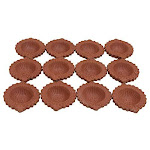 Pack of 12 Traditional Diwali Diya Handmade Clay Lamps Oil Lamp Puja Indian Earthen Oil deepawali Pooja Decoration