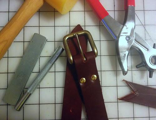 Leather Belt Finished