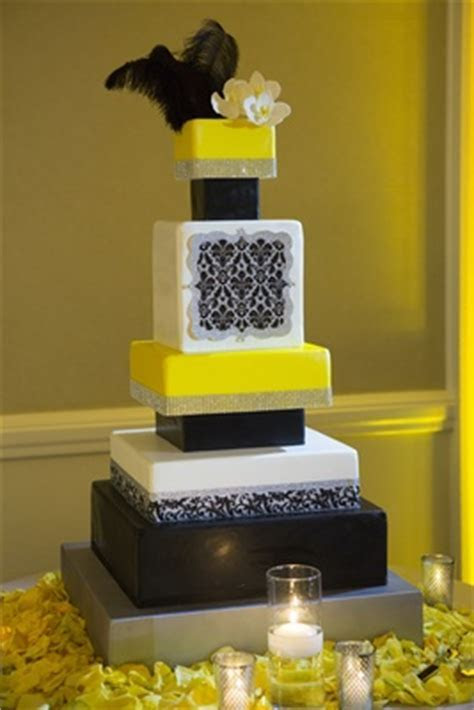 Elegant Ocean Front Ceremony and Unique Black & Yellow
