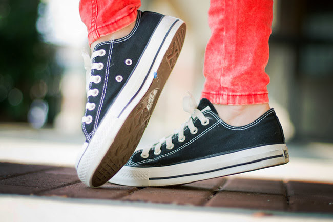 Converse All Star, Red Skinny Jeans, Brashy Couture, Fashion Outfit