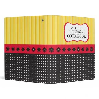 Stripes and Polka Dots Recipe Binder
