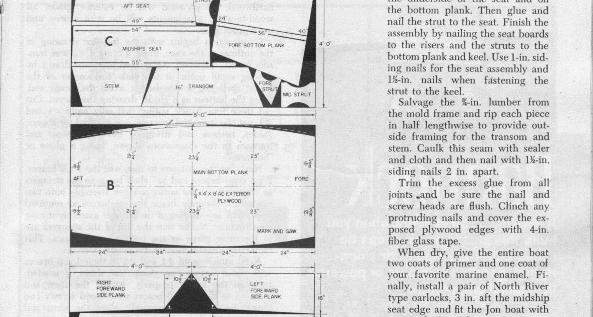Simple plywood jon boat plans | Franse
