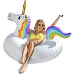 GoFloats Inflatable Pool Float Unicorn Party Tube