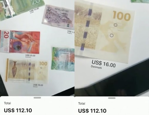Watch: Apple's ARKit Auto Converts, Totals Foreign Money Into One Currency In AR
