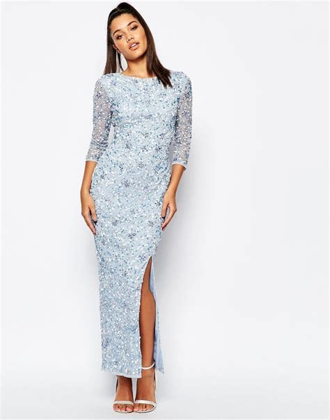 River Island Long Sleeve Embellished Maxi Dress in 2019