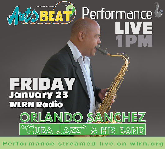 Cuban Bebopper, Orlando Sanchez, sets our airwaves on fire with his incendiary brand of Latin Jazz