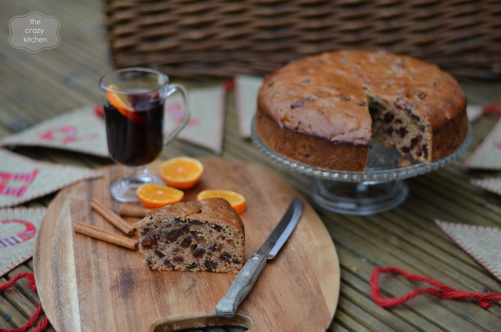 Mulled Wine Christmas Cake