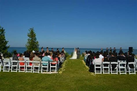 Wedding ceremony   Picture of Gordon Lodge, Baileys Harbor