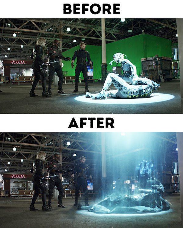 28 - 30 before and after special effects scenes