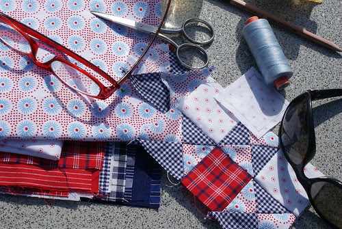 doing patchwork outside