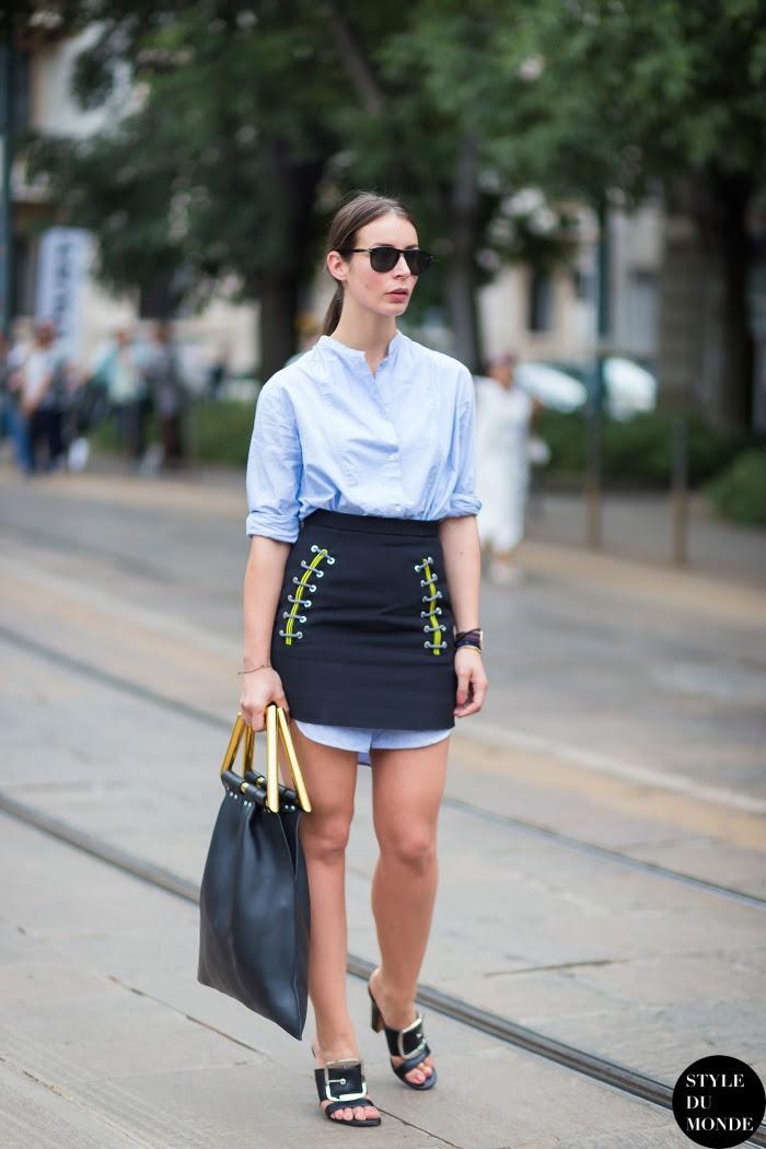Irina Lakicevic Street Style Street Fashion Streetsnaps by STYLEDUMONDE Street Style Fashion Blog