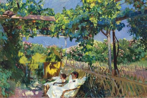 Sorolla, Joaquin (Spanish, 1863-1923) - Siesta in the Garden - 1904 (by *Huismus)