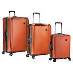 Traveler's Choice Halow 3-piece Hardside Spinner Luggage Set, Orange