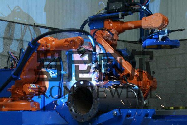 Pipe Prefabrication Robot Welding Machine With Abb Otc Robot Body
