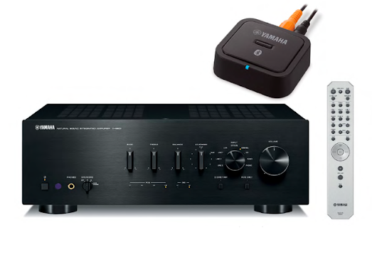 Yamaha A-S801 Integrated Amplifier and YBA-11 Bluetooth Wireless Adapter