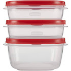 Rubbermaid Value Pack Easy Find Lids Food Storage Containers, 6 containers, Red