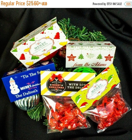 BLACK FRIDAY SALE Christmas Candy Bag by TopClassPrintingShop