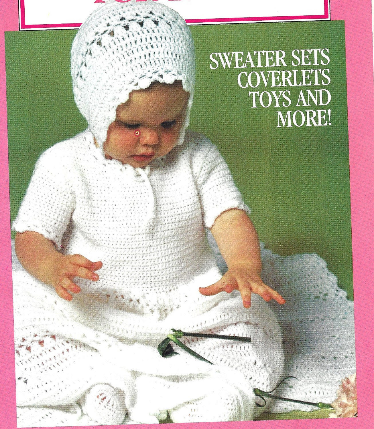 Easy crochet Pattern Baby Infant Christening Gown Dress, Booties, Bonnet and Afghan