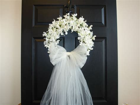 Bridal shower decorations wedding wreaths front door