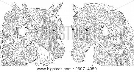 9700 Coloring Book Horse Free Images