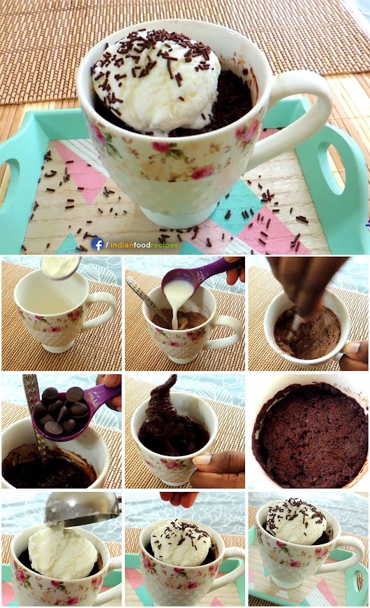 Double Chocolate Mug Cake Microwave recipe pictures
