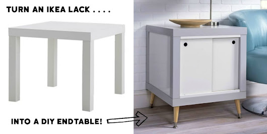 Genius IKEA Hack: Lack DIY Endtable -