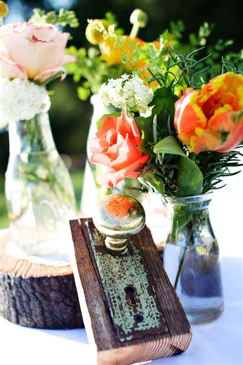 rustic citrus wedding inspiration outdoor spring wedding