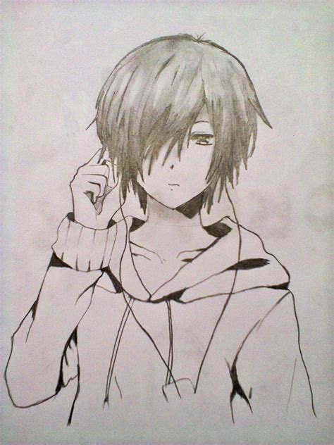 anime boy drawings  pencil drawings art gallery