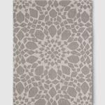 "5' x 7' Medallion Outdoor Rug Gray - Threshold , Size: 5'3""X7', White Gray"