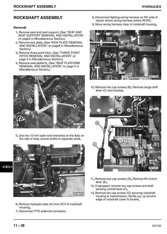 John Deere 4500 4600 4700 Compact Utility Tractors All Inclusive Technical Service Manual Tm1679 Truck Service Manual Store